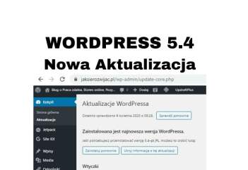 Aktualizacja WordPress 5.4 - jak i co daje Z kursu WordPressa 2020
