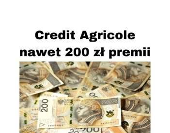 Credit Agricol promocje bankowe - nawet 200 zł premii za konto osobiste