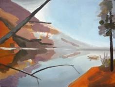 krajina 2 / landscape 2, 75x60 cm, akryl na plátně / acrylic on canvas, 2010