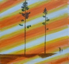 pravé poledne / high noon, akryl na plátně / acrylic on canvas, 39x36 cm, 2012