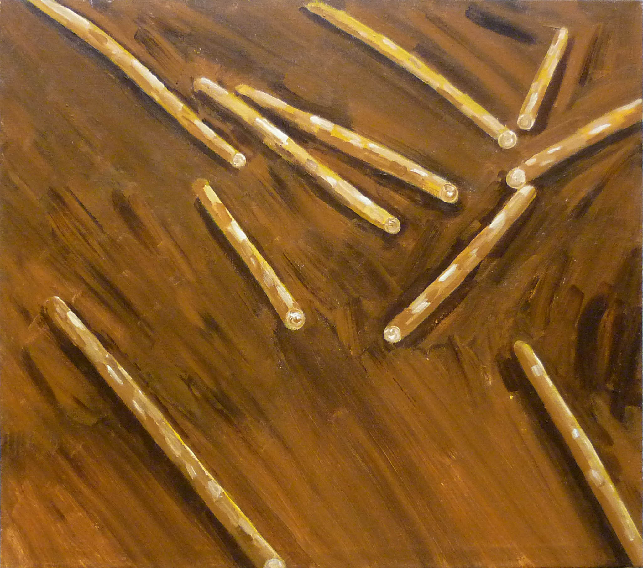 finské dřevo / finnish wood, akryl na plátně / acrylic on canvas, 135x120 cm, 2012