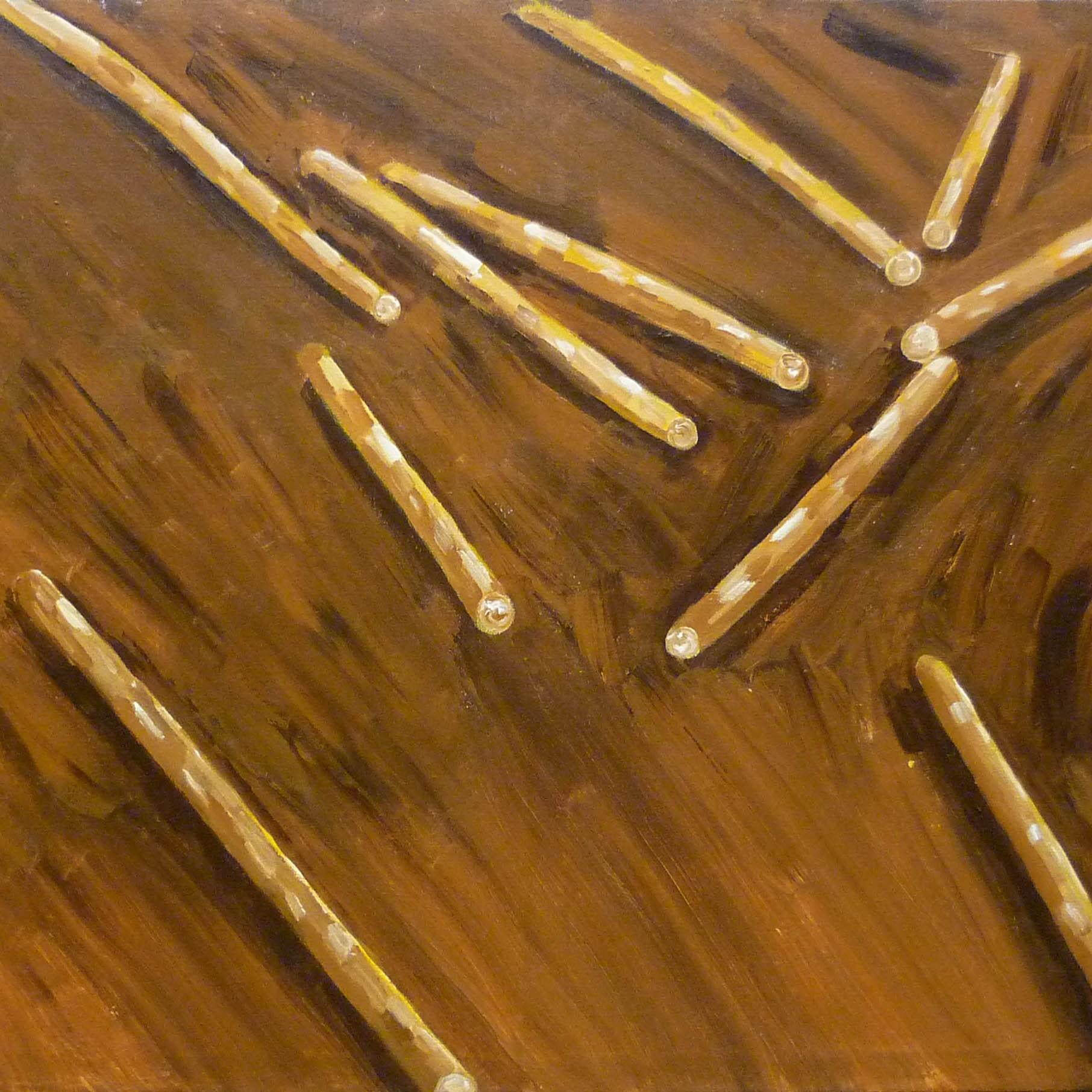 finské dřevo / finnish wood, akryl na plátně / acrylic on canvas, 135x120 cm, 2012