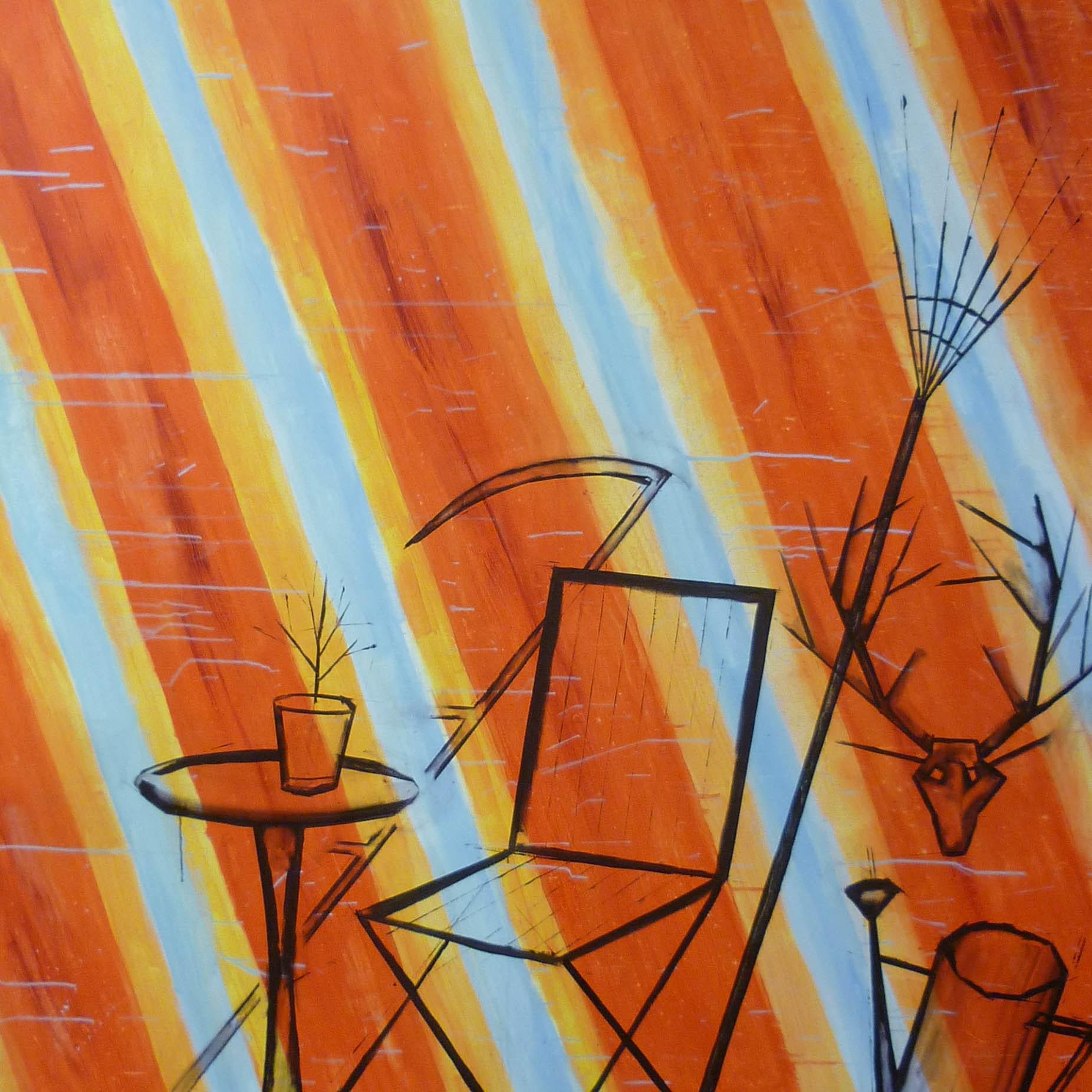 horký skleník / hot greenhouse, akryl na plátně / acrylic on canvas, 190x200 cm, 2012