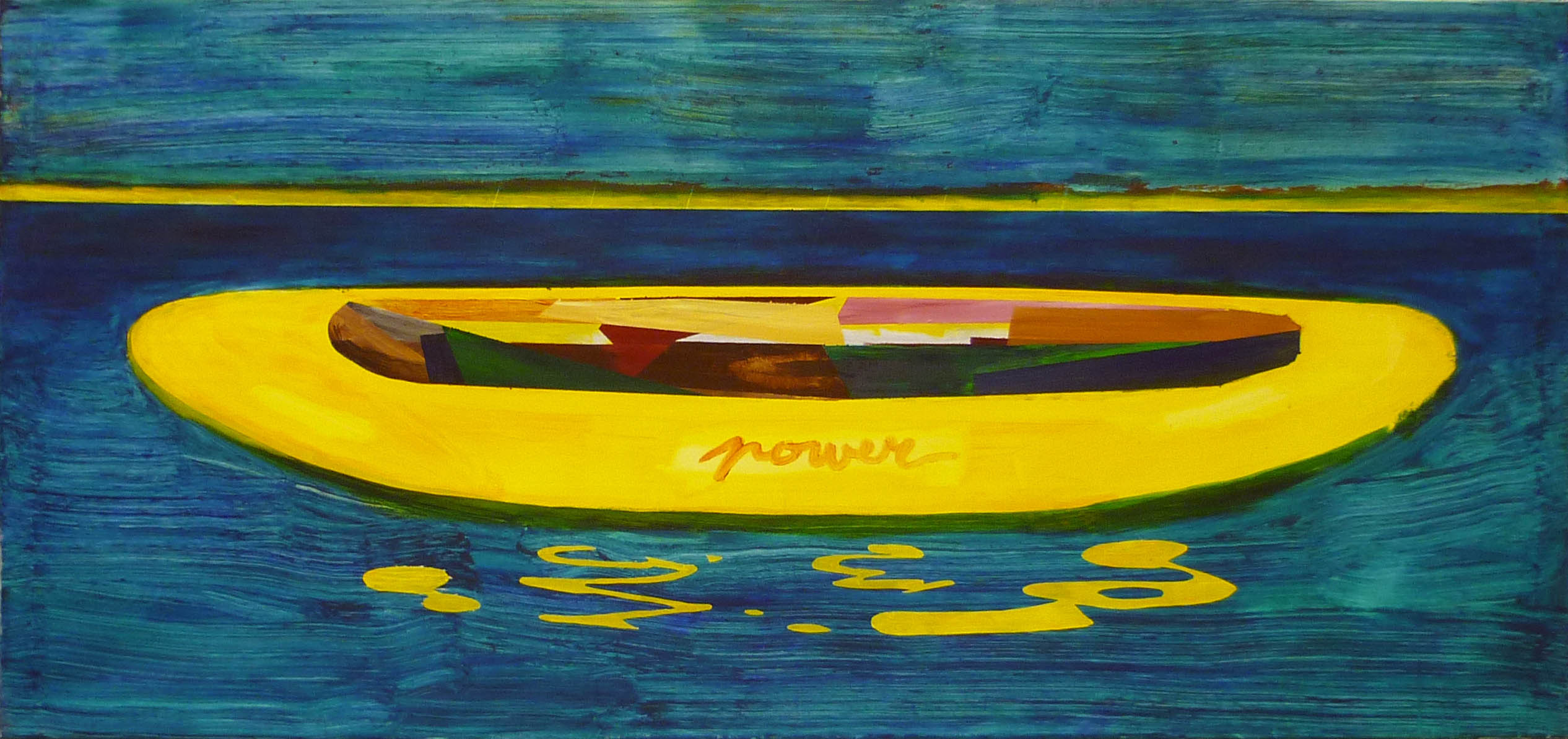 kánoj / canoe, akryl na plátně / acrylic on canvas, 190x90 cm, 2012