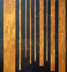 Pahorkatina Pesukarhu Sanakirja / Pesukarhu Sanakirja hill, akryl na plátně / acrylic on canvas, 190x200 cm, 2012