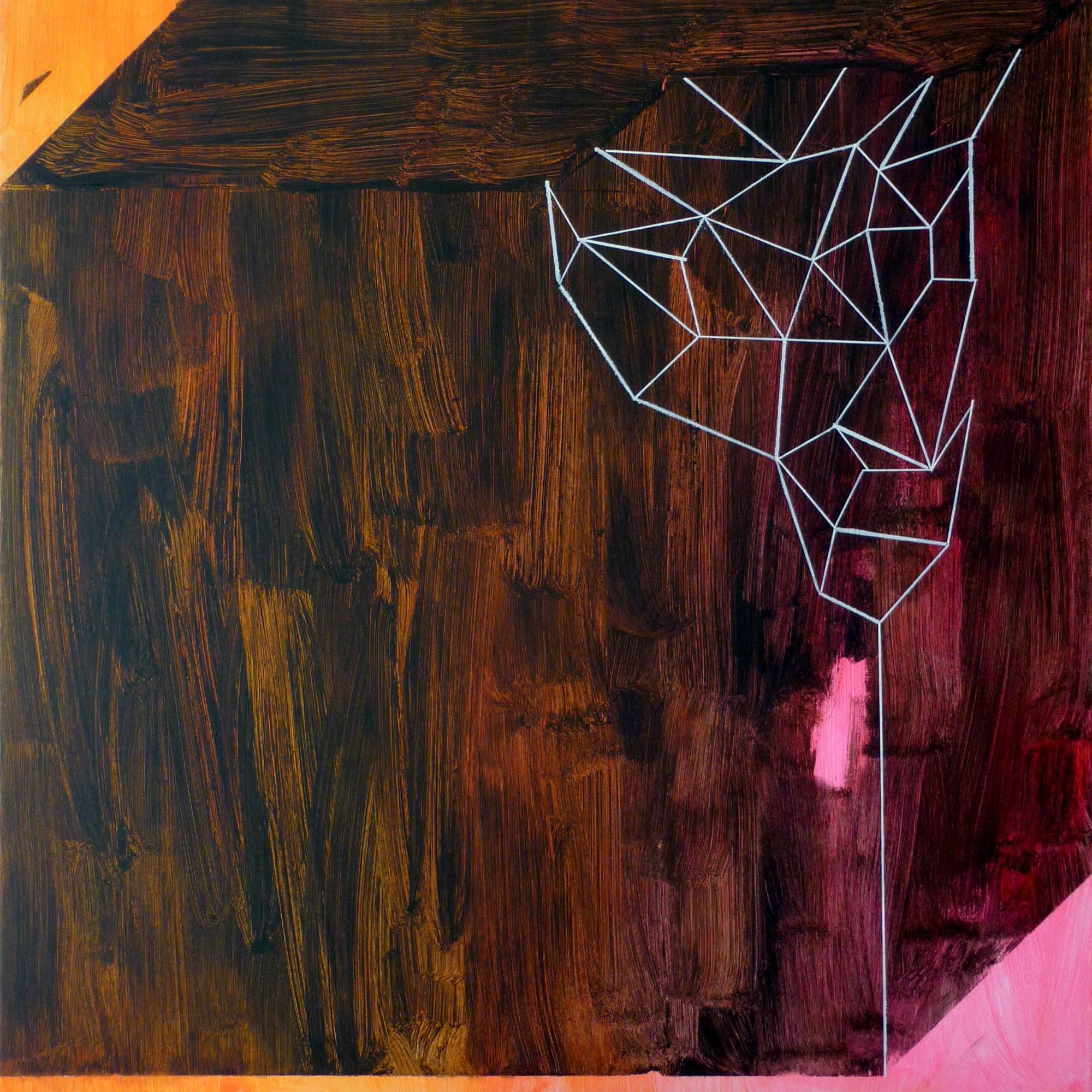 rozbité těžítko / broken paperweight, 95x100 cm, akryl na plátně / acrylic on canvas, 2014