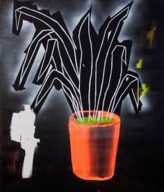 tchynin jazyk / mother-in-law's tongue, 80x95 cm, akryl na plátně / acrylic on canvas, 2015