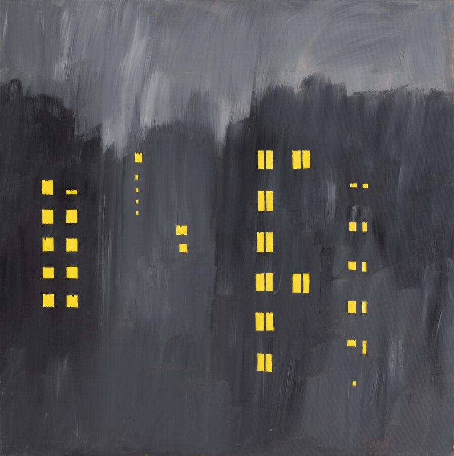 sídliště / housing development, 100x100 cm, akryl na plátně / acrylic on canvas, 2018
