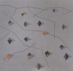 plánek diamantového pole 2 / diamond field map 2, 200x190 cm, akryl na plátně / acrylic on canvas, 2020