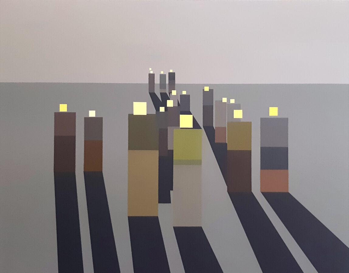 turisti / tourists, 115x90 cm, akryl na plátně / acrylic on canvas, 2020