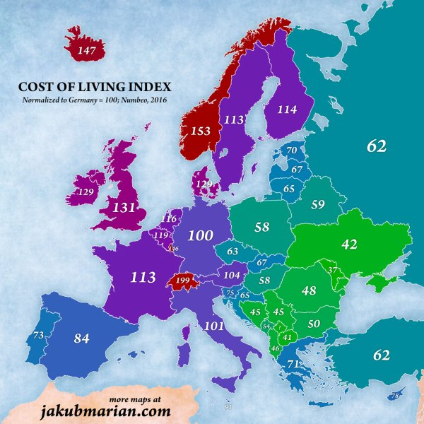 cost of living map usa » Pictures 4K HD | Fospo Pictures