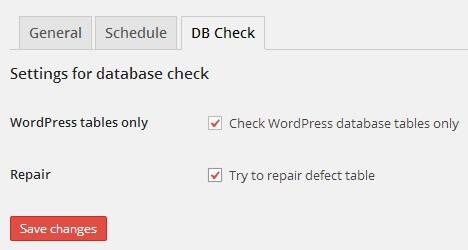 Check Database BackWPup