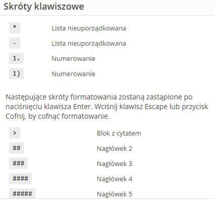Skróty klawiszowe | jakubstrawa.pl