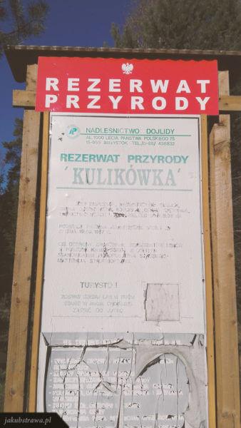 Tablica informacyjna - rezerwat Kulikówka
