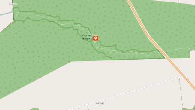Rezerwat Kulikówka - mapa poglądowa
