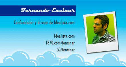 El perfil emprendedor de: Fernando Encinar, idealista.com