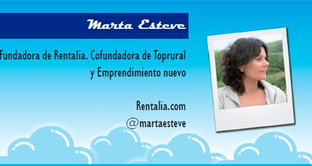 El perfil emprendedor de: Marta Esteve, rentalia.com