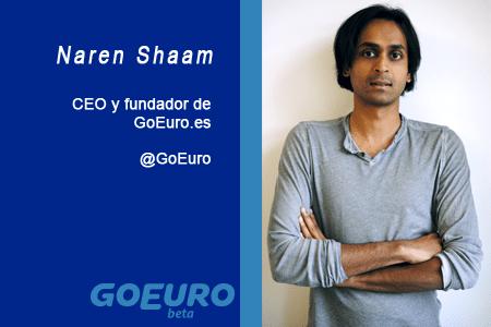 El perfil emprendedor de: Naren Shaam, goeuro.es
