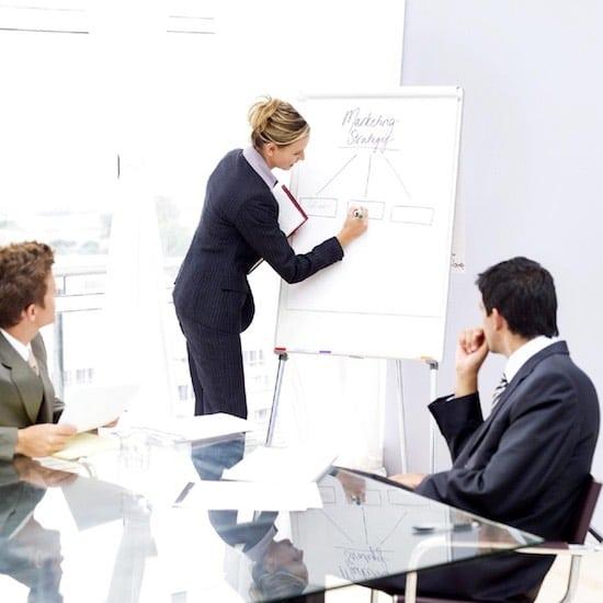 la reunión de ventas