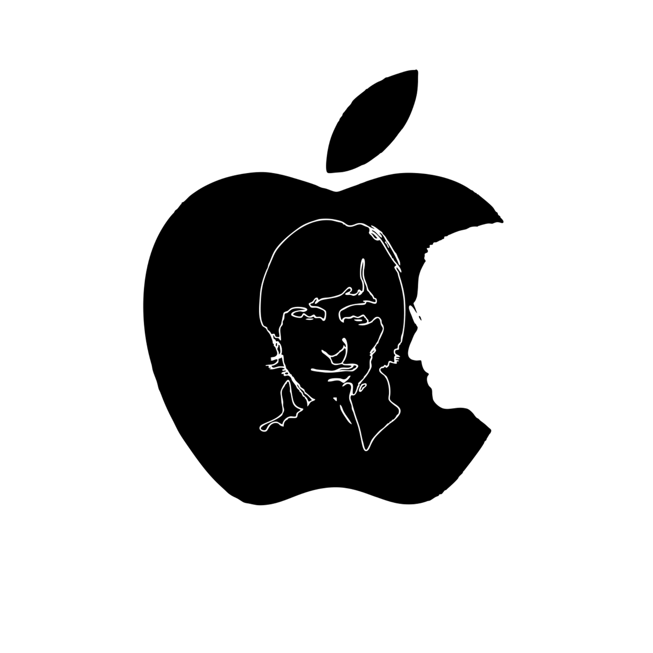 apple, logo, steve jobs