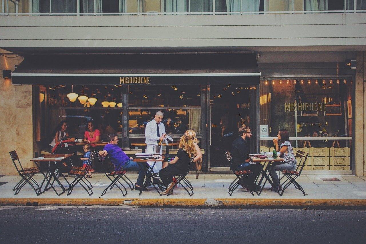 bar, city life, waiter