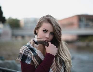 beautiful, woman, cold