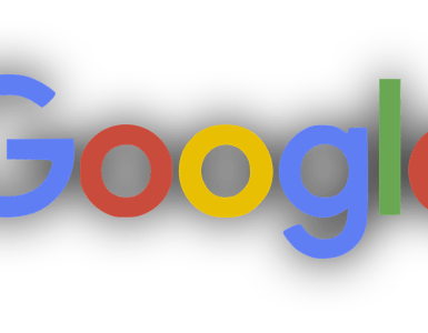 google, logo, shadow