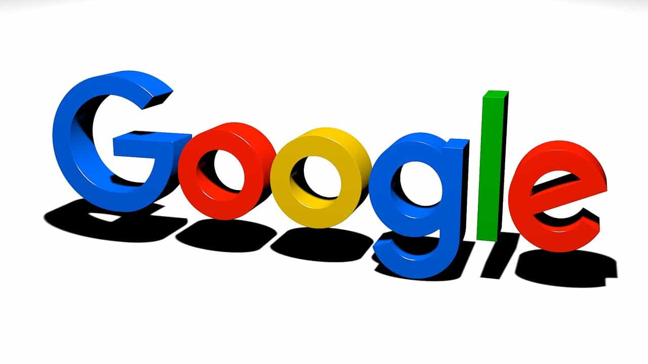 google, logos, 3d