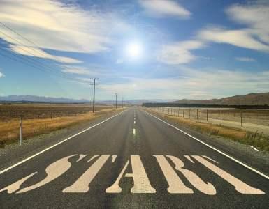 road, start, beginning