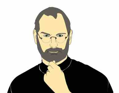 steve jobs, technology, illustration