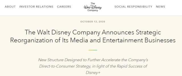 Walt Disney announces