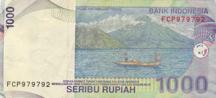 Gambar 1000 rupiah ( Pulau Maitara dan Tidore)