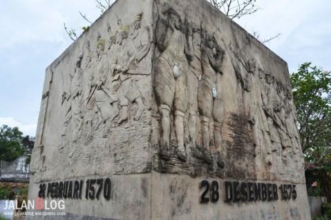 Relief sejarah benteng Kastela