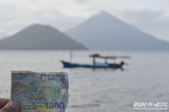 Gambar di uang seribu