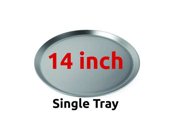 """14"""" Aluminium Pizza Trays 355mm"""