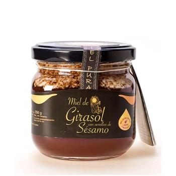 Miel de Girasol con semillas de sésamo 250 gr