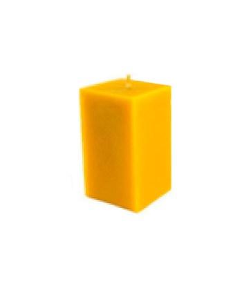 Vela rectangular compacta pura cera virgen
