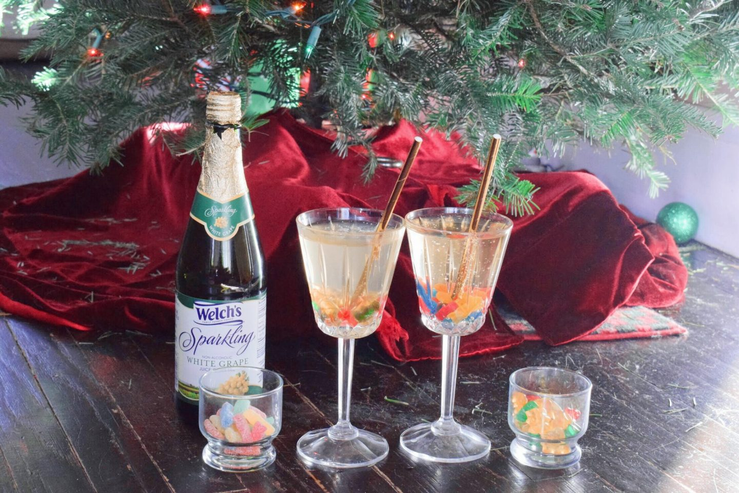Mocktails By The Tree With Candy