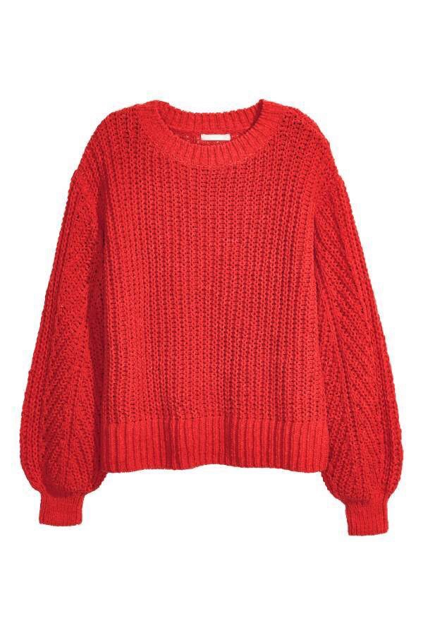 Red H&M Winter Sweater