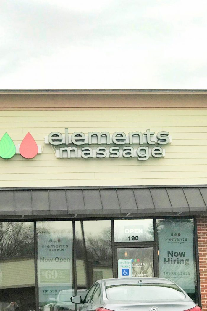 Elements Massage Entrance