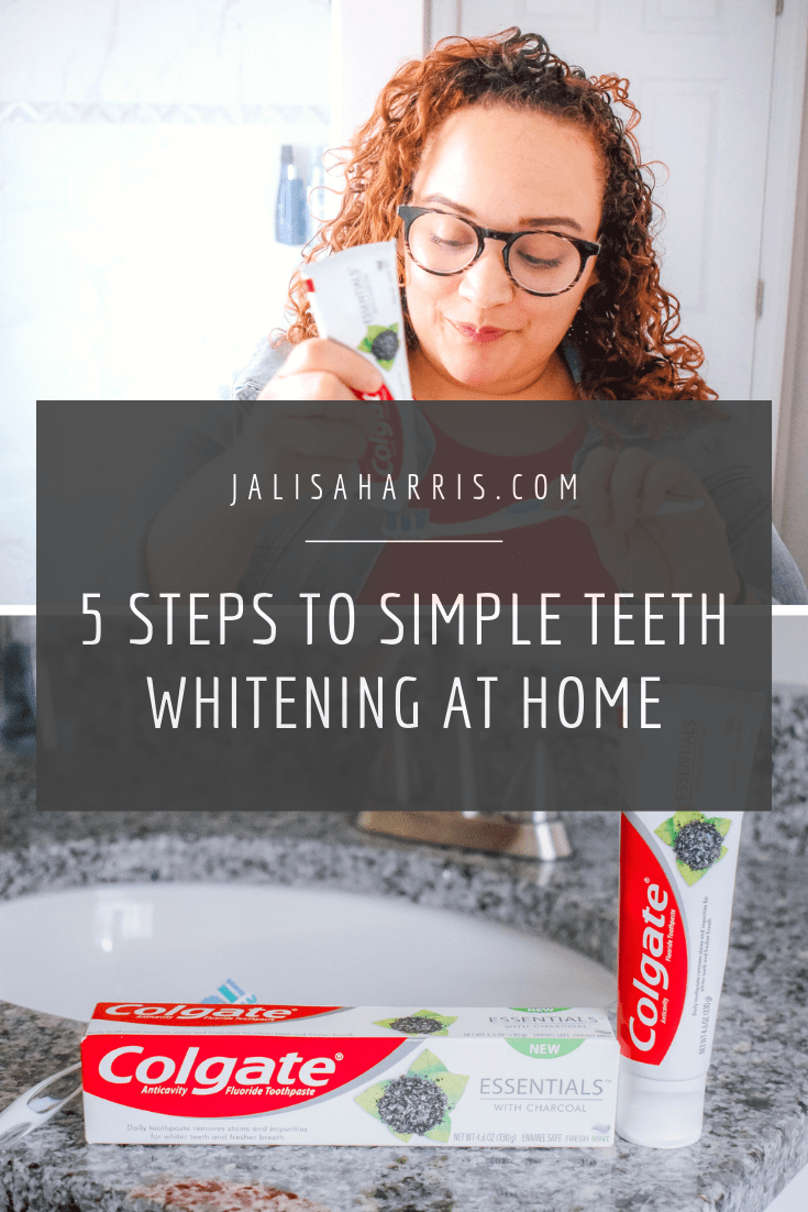 5 steps to simple teeth whitening at home pin