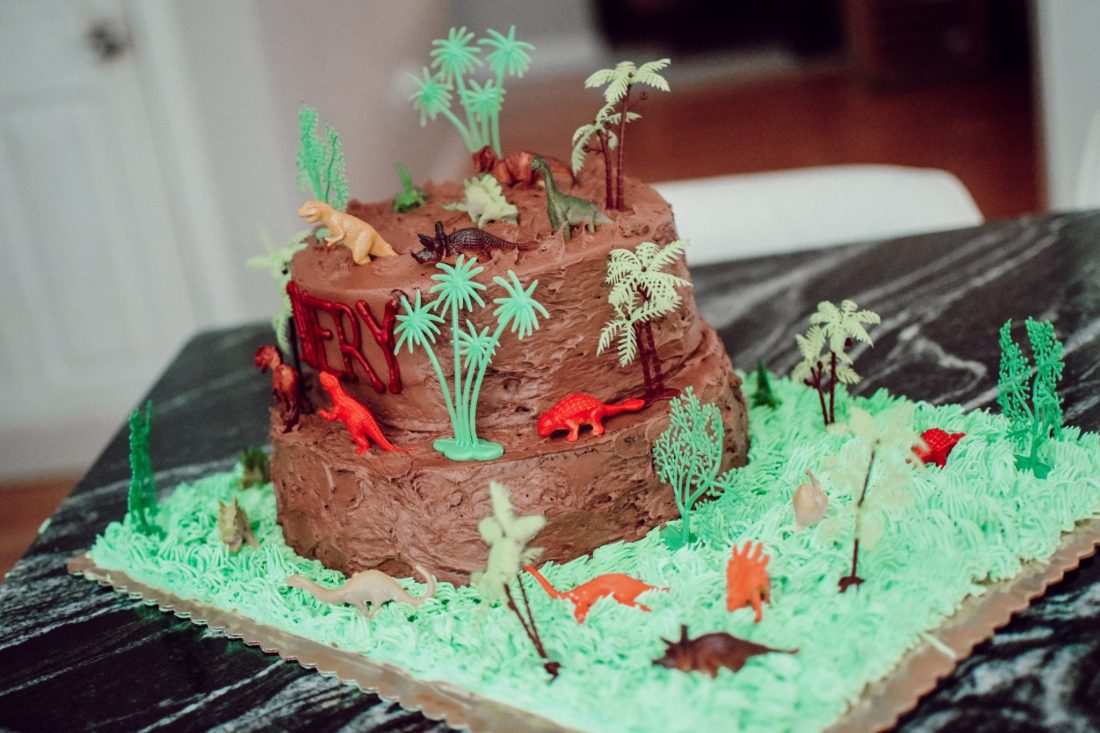 Jurassic Sixth Birthday Cake