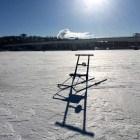 Potkuri Jyväsjärven jäällä