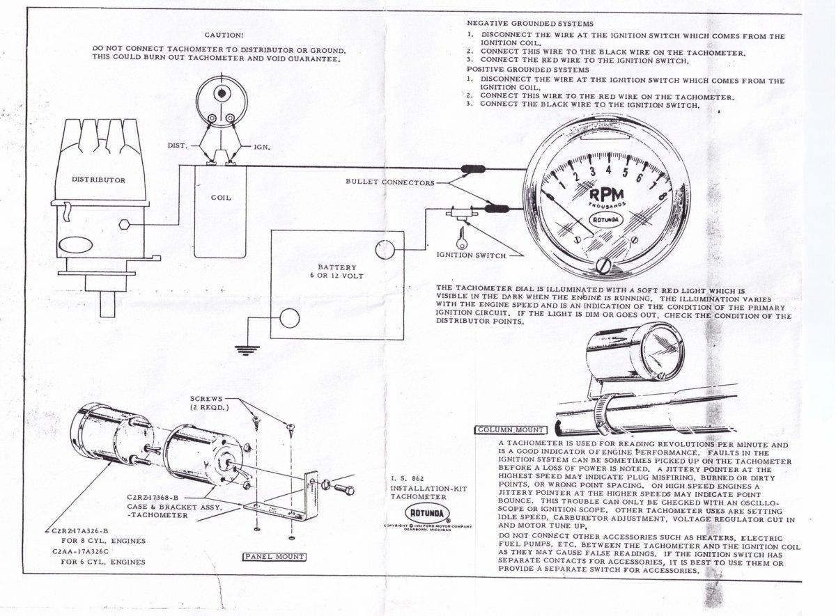 Technical - Faria Tachometer