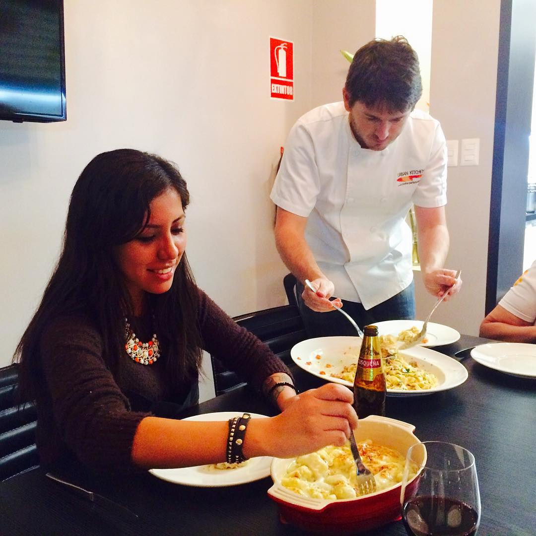 Comiendo los #gnocchis hechos con mis manitas #italianfood