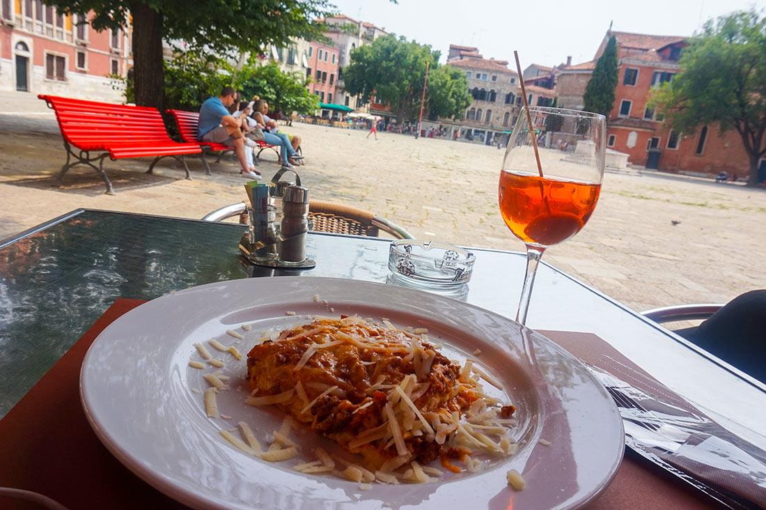 Spritz con lasagna