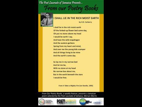 Poetry Selection Art Amp Leisure Jamaica Gleaner