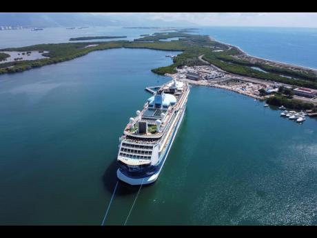 The Marella Discovery 2 cruise ship docked at the port in Port Royal on Monday, February 24. It was the vessel's second visit to the newly developed port.