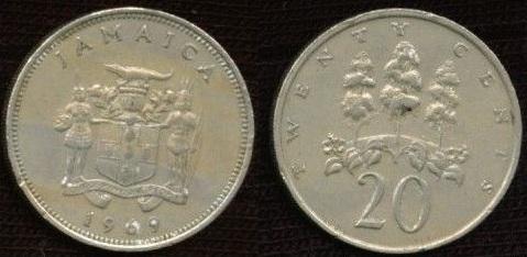 1969 Jamaican 20 cent