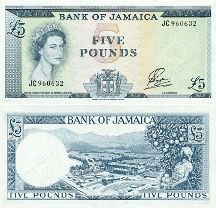 Jamaican £5 Bank Note